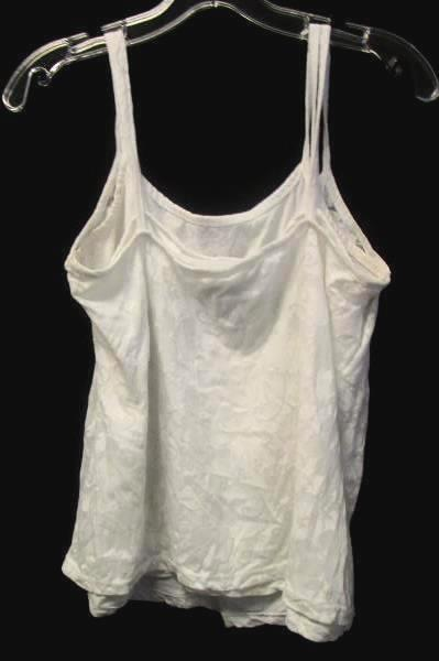 Women's White Layered Floral See Through Tank Top By Great Northwest Size M