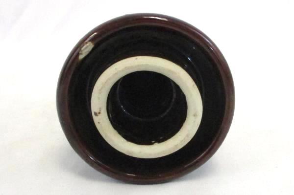 Vintage 104 Top Marked Porcelain Ceramic Pottery Brown Insulator