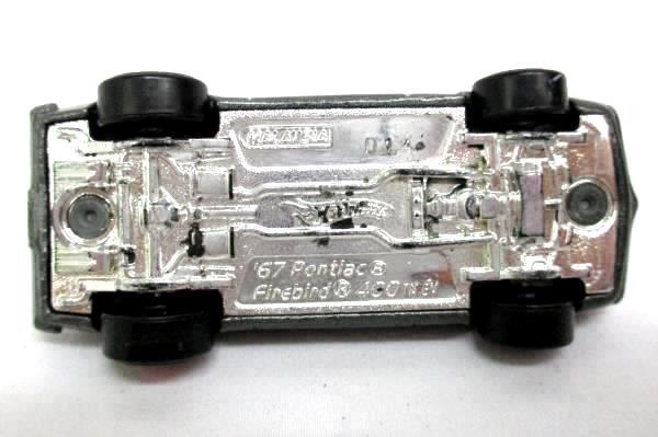 1967 Pontiac Firebird 400 DieCast Car w/ Real Rider Wheels Charcoal Gray Red Blk
