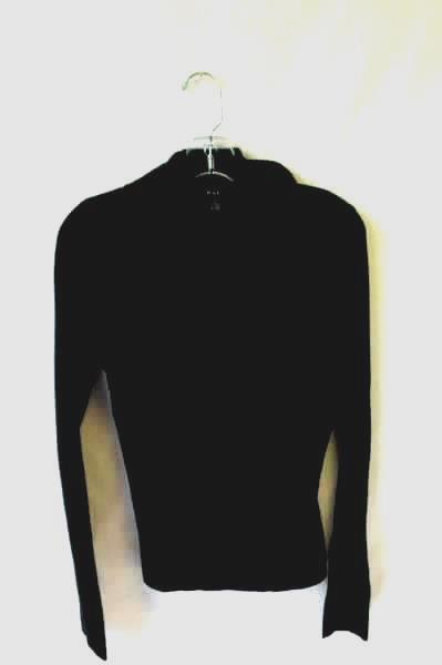 Women's Black Cowl Neck Long Sleeve Pullover Sweater By Evie Size M 100% Acrylic