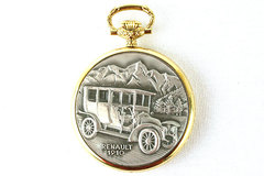 BERNEY Two Tone 1910 Renault Open Face POCKET WATCH New!