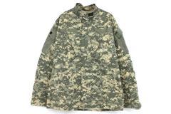 Military Army Issue BDU Digital Camouflage Hunting Hiking Jacket Medium Long