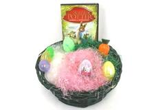 Tales Of Beatrix Potter DVD + Easter Gift Basket Passover Plastic Grass & Eggs