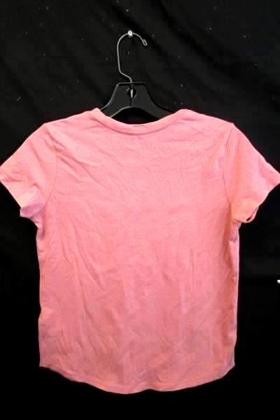 """Girl's Pink """"Do What You Love"""" Short Sleeve Geometric Shirt Old Navy Sz L 10-12"""