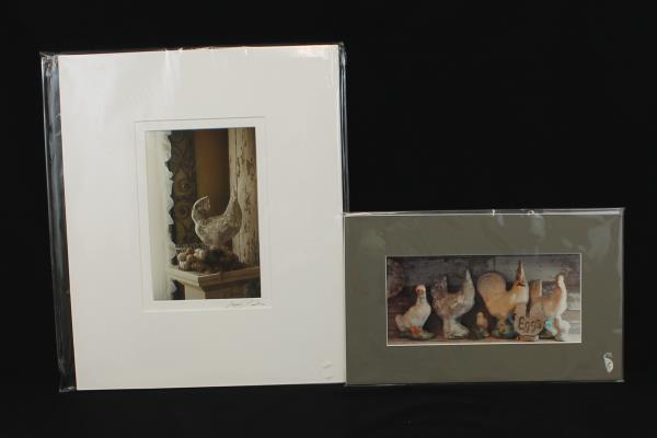 2: Artist Doreen Wynja Photograph Art Country Stone Farm Chicken Signed Matted