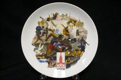 Official 1980 Olympics Summer Games Plate Moscow Vietta China Alton S. Tobey