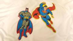 "Batman Superman Super Hero Wall Hanging Youth Kid Home Decor Accents 14"" Metal"