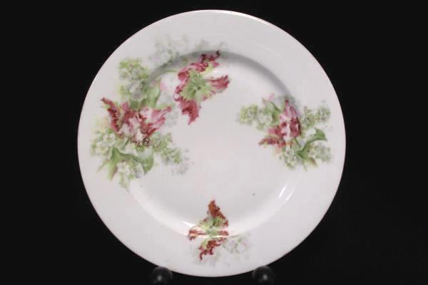 "Vintage J & C GHBC Hand Painted Flower Plate Bavaria Germany 9.75"" Diameter"