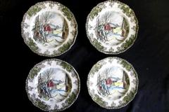 The Friendly Village Johnson Bros Lot Of 4 Sugar Maples Small Plates