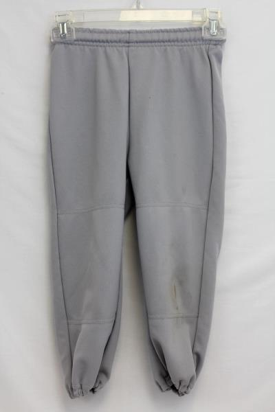 Boys Champro Youth Solid Grey Sz XS Baseball Pants Wide Waistband Elastic Ankles