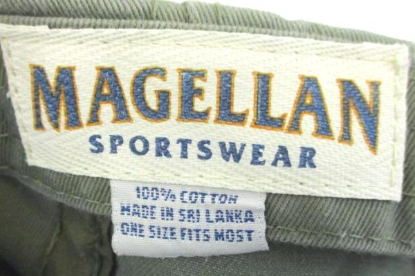 Lot of 2 Magellan Sportswear Cap Hat Adjustable 100% Cotton Green