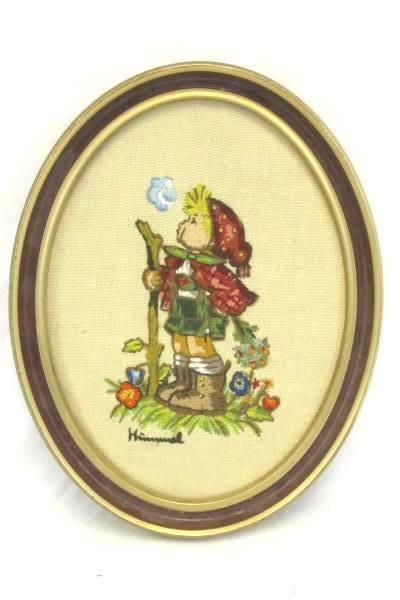 Framed PARAGON NEEDLECRAFT Exquisite Hummel Stitchery Peasant Boy
