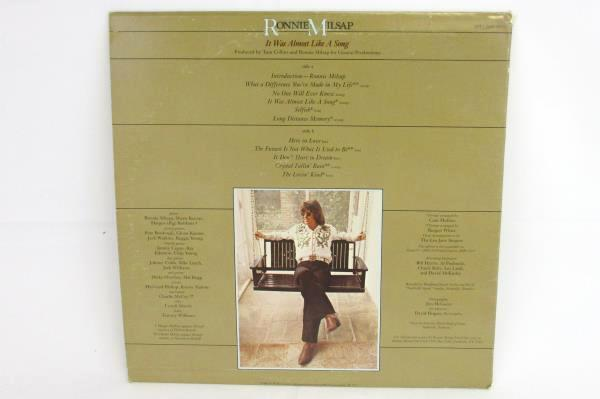 """Vintage RONNIE MILSAP It Was Almost Like A Song 1977 33 RPM 12"""" LP Record"""