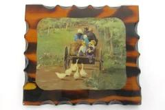"""Vintage Treats by Ann Mount Wall Art Print on Wood Wall Hanging 7.5"""" x 6.5"""""""