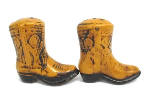 Vintage Western Cowboy Boot Salt & Pepper Shakers