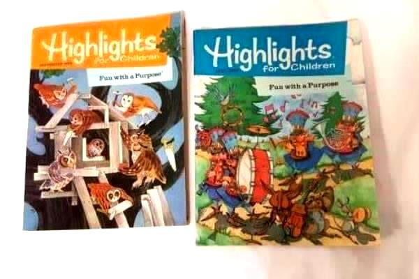 Lot of 2 Highlights For Children Magazines Collection Growing Up 1990 and 1992