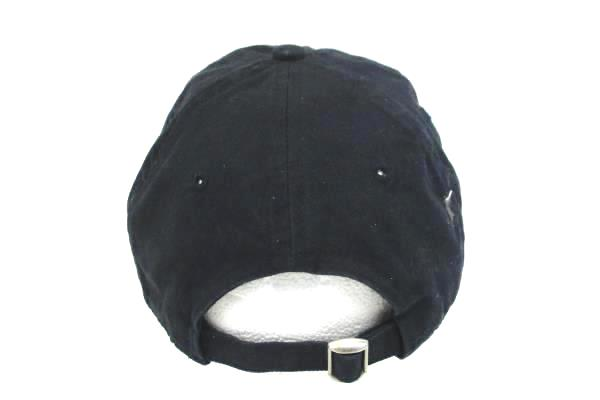 Dark Blue Wilson Logo Athletics Strapback Cap One Size Fits All Adjustable