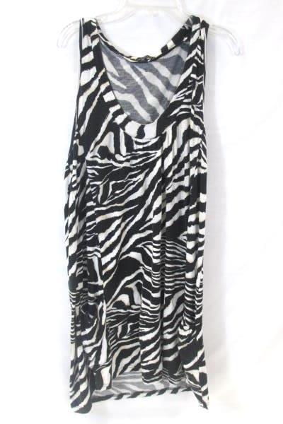 Black and White Zebra Print Sleeveless Dress By Twenty One Women's Size Medium