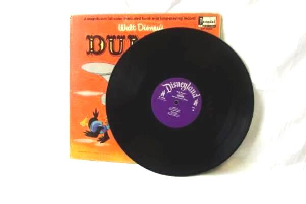 """Vintage 1965 Walt Disney's Dumbo: The Story and Songs 12"""" 33 RPM Vinyl Record"""