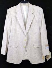 ARNOLD PALMER Sport Coat Linen Blend Oatmeal Beige Wiley Size 42 R Vintage