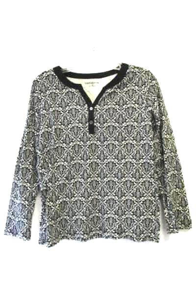 Women's Long Sleeve Multi-Colored Floral Shirt By Croft&Barrow Size Medium