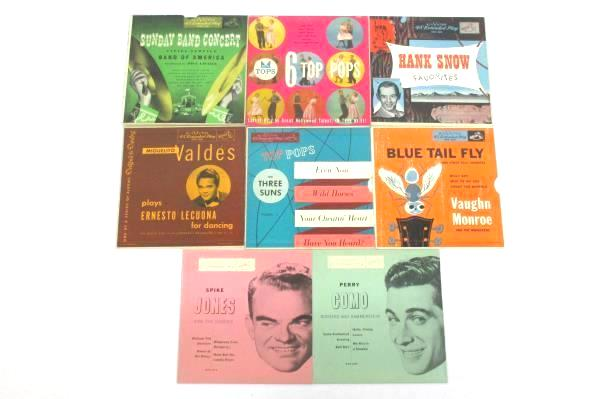 Lot of Eight Vintage RCA Victor 45 RPM Extended Play Cardboard SLEEVES ONLY