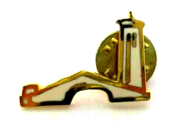 Lot Of 3 Lighthouse And Bridge Enamel Clutch Back Pins