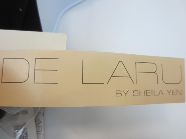 De Laru by Sheila Yen Beaded Black Halter Dress Size 3/4 Stunning Floor Length