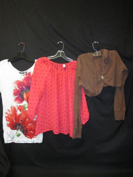 Lot of 3 Women's Shirts Cardigan by Maurices APT.9 Old Navy Multi Color Sz L