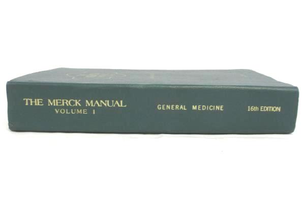 The Merck Manual Vol 1 General Medicine 16th Edition Hardcover Health Reference