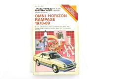 1989 Chilton Car Repair Manual For Omni Horizon Rampage 1978-89