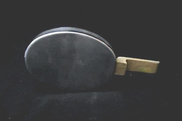Vintage Stainless Steel Bed Warmer Or Coal Keeper Pan with Wood Handles
