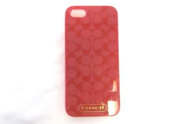 Coach Phone Case For Apple iPhone 5 Coral Classic Signature C Discontinued