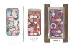 Lot 3 Coach Phone Case For Apple iPhone 5 Multi Color Signature C Discontinued