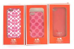 Lot 3 Coach Phone Case For Apple iPhone 5 Multi Color Pink & Red Discontinued