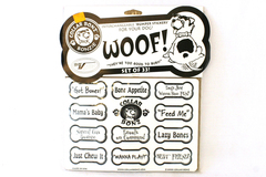 COLLAR BONZ Set of 33 Dog Bone Collar Fun Sayings Charms