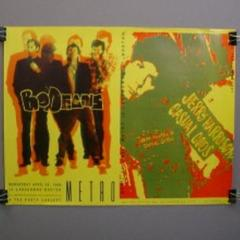 Colorful April 21 1988 BODEANS VINTAGE Poster