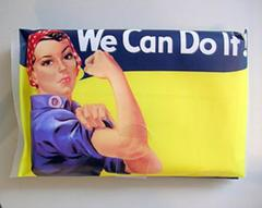 Rosie The Riveter Refillable Pocket Travel Tissue Holder Strong Woman