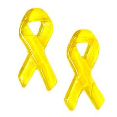 Wall Window Door Deco YELLOW RIBBONS GEL GEMS 2 In. DECORATIVE - Set of 2