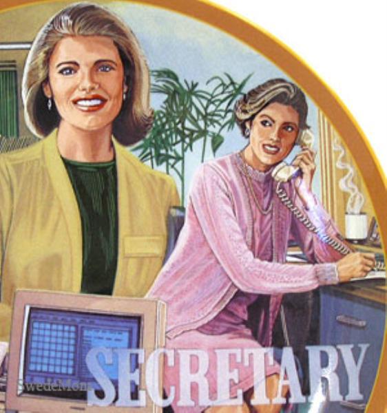 Worlds Greatest Female SECRETARY PLATE New! RETIRED