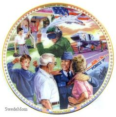 1997 Cliff Hayes US AIR FORCE Coming Home MINI PLATE Ornament Islandia