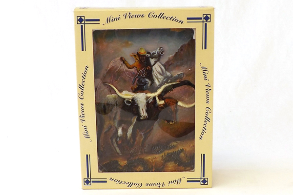 GREGORY PERILLO Longhorns Cowboy The RUSTLER Wall Plaque New