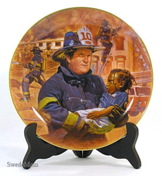 Bradford Brown OUT OF THE BLAZE Firefighter Plate