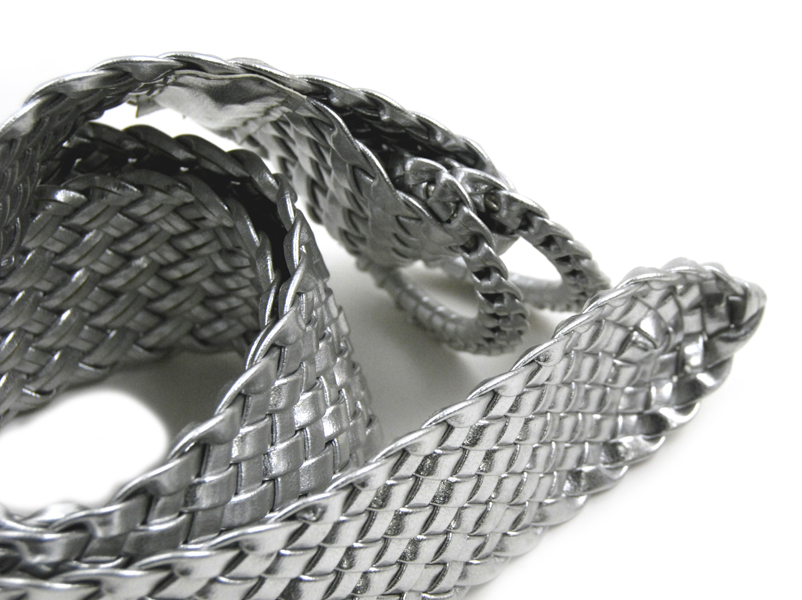 Curfew 6527A Woven Light Silver Belt - Bright Accessory!
