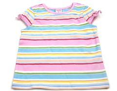 Old Navy Pastel Stripes Toddler Shirt 12-18 Months