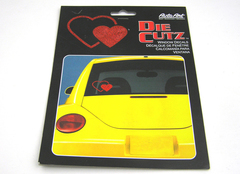 CHROMA AUTO ART DIE CUTZ HEARTS DECAL  NEW
