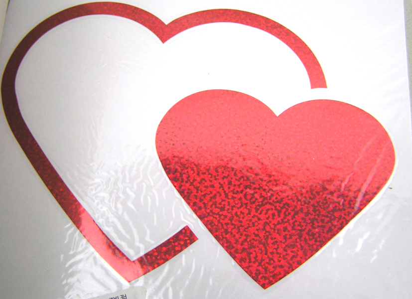 CHROMA AUTO ART DIE CUTZ HEARTS DECAL  NEW