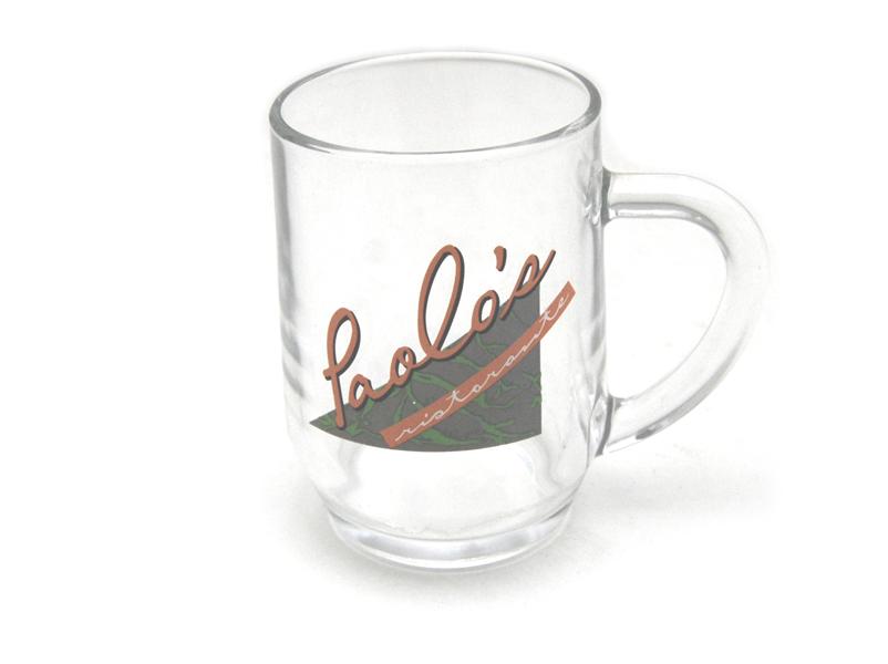 Paolo's  Ristorante Clear Glass Coffee Tea Beverage Mug
