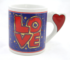 1998 J.I.I. Ceramic Love Mug with Heart Handle