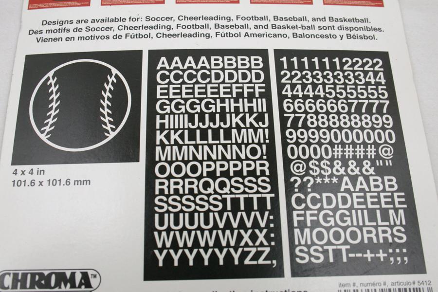 Auto Art  Baseball Sport Kit Car Decal Chroma Graphics